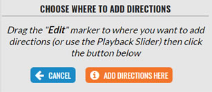 Add Directions Here button