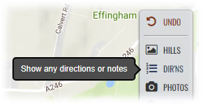 Select Directions from the Action Bar