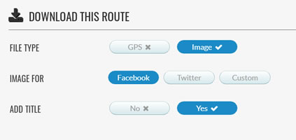 Download route as an image for Facebook