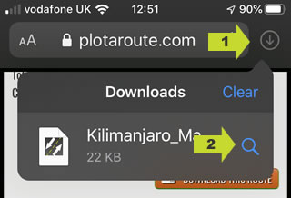 Select the downloaded file