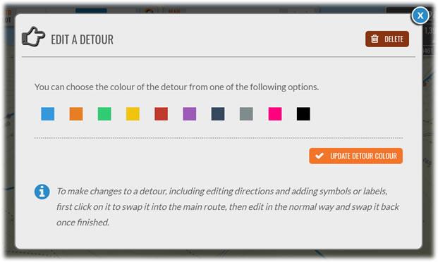 Edit Detour panel