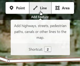Use the Line tool to draw a missing road or path