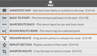Keyboard shortcuts on the toolbar