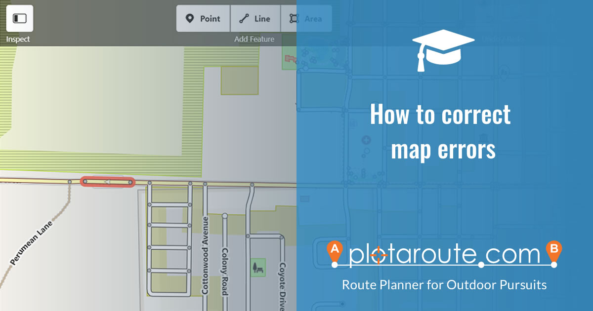 How to correct errors on maps used by plotaroute.com route planner
