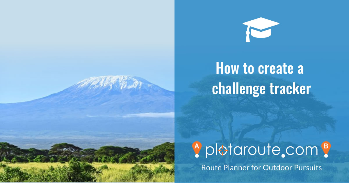 How to create a challenge tracker map to track your progress on a long distance challenge