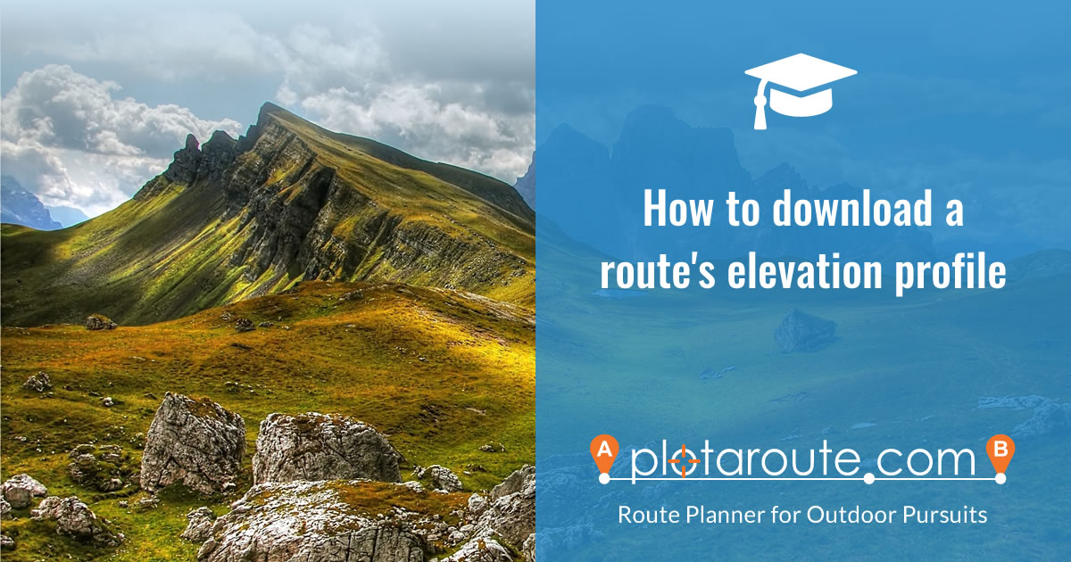 How to download a route's elevation profile