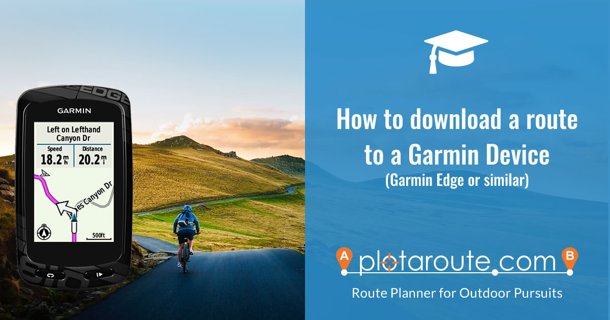 How to download a route to a Garmin GPS device