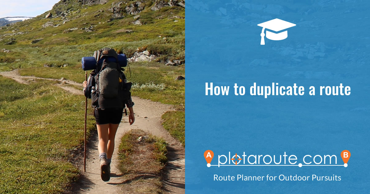 How to create a copy of an existing route