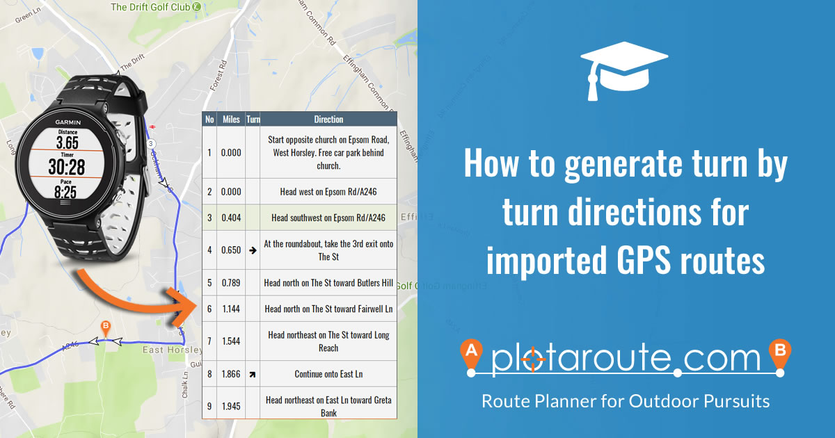 How to generate turn by turn directions for imported routes