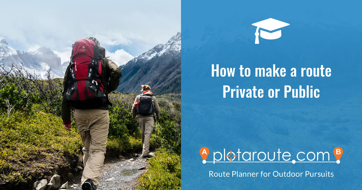 How to change the privacy status of a route on plotaroute.com