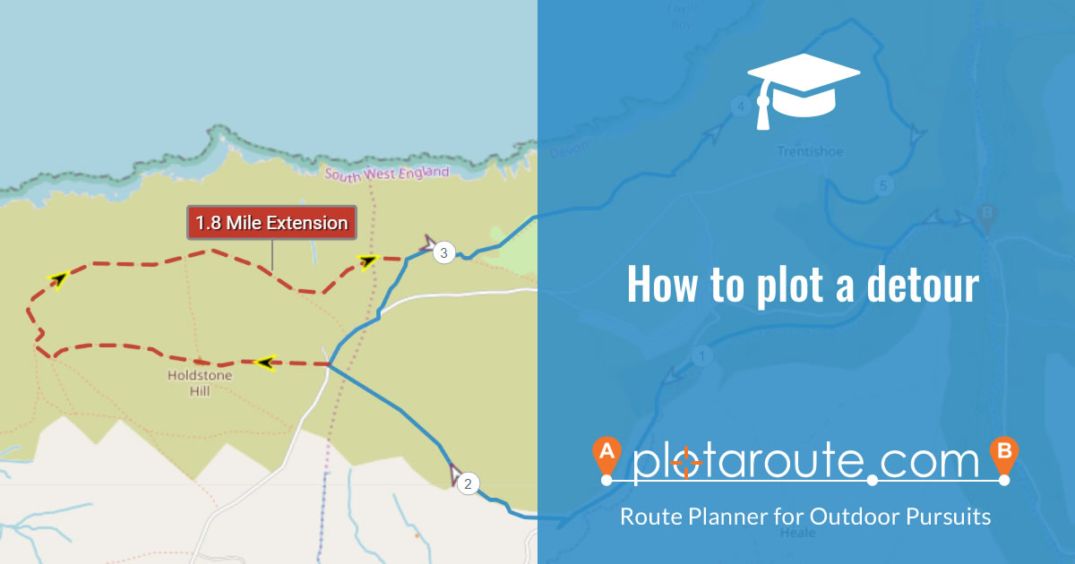 How to plot a detour to show an alternative way for a section of a route