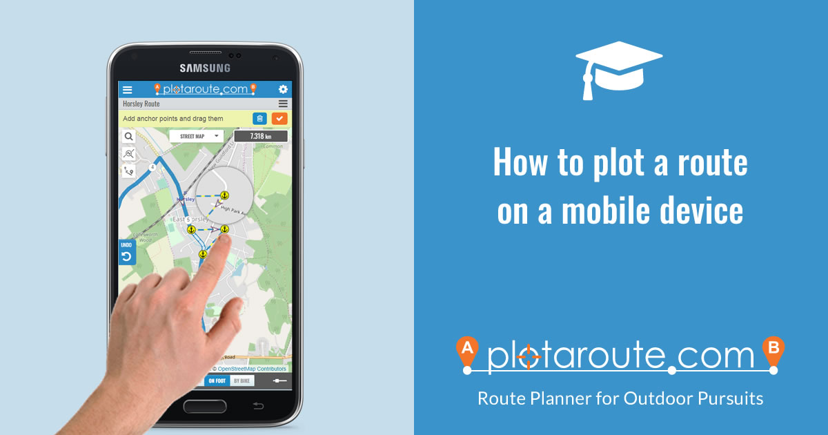 How to plot a route on your smartphone using plotaroute.com