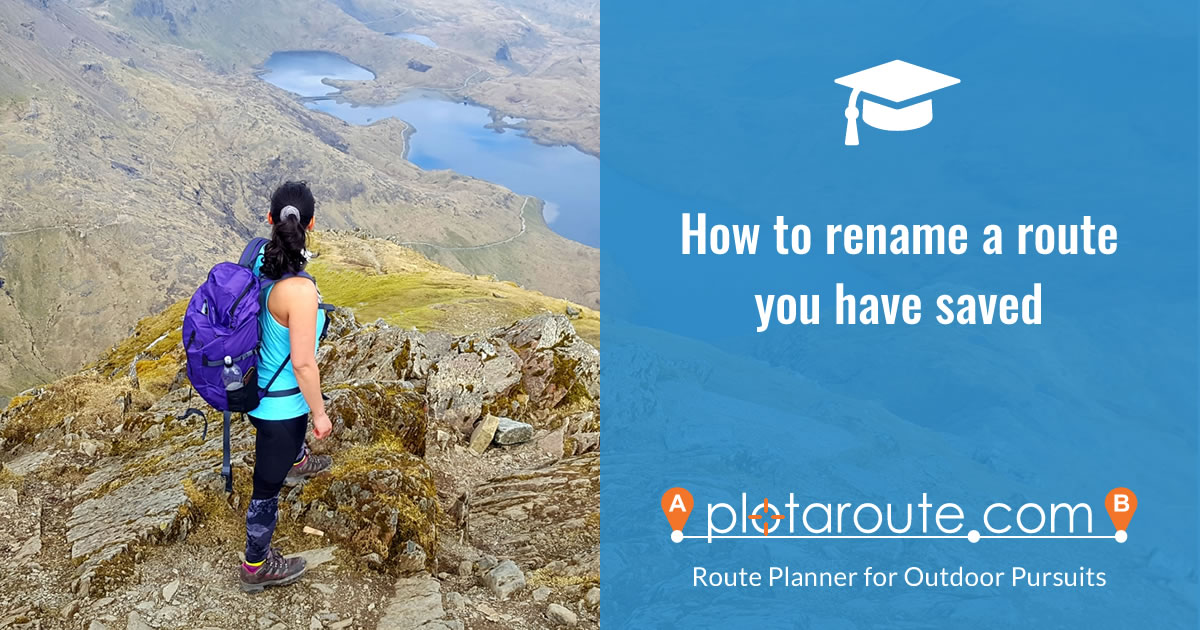 How to delete a route from plotaroute.com