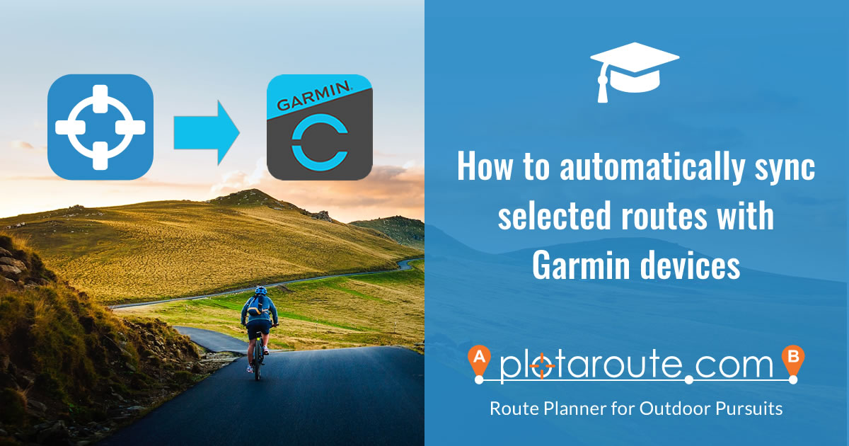 How to use the Garmin Sync feature on plotaroute.com