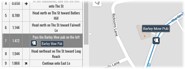 Newly added directions