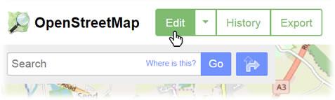 OSM Edit button