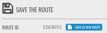 Save As New Route button