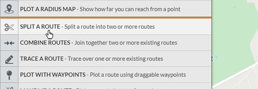 Split a Route tool