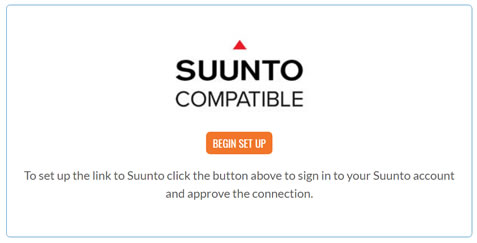 Begin setting up the Link to Suunto