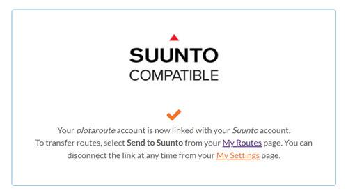 Suunto Link set-up complete