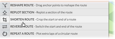 Shorten Route feature